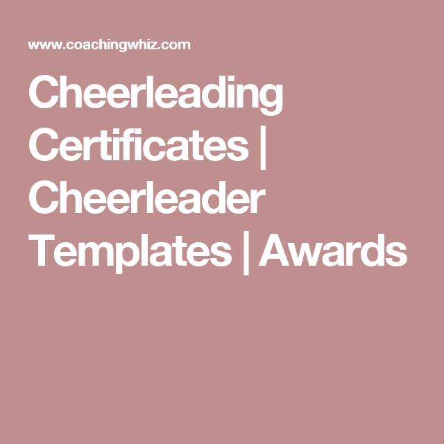 Cheerleading certificates cheerleader templates awards cheerleading award templates enable you to create custom printable award certificates for players coaches and team parents yelopaper Gallery