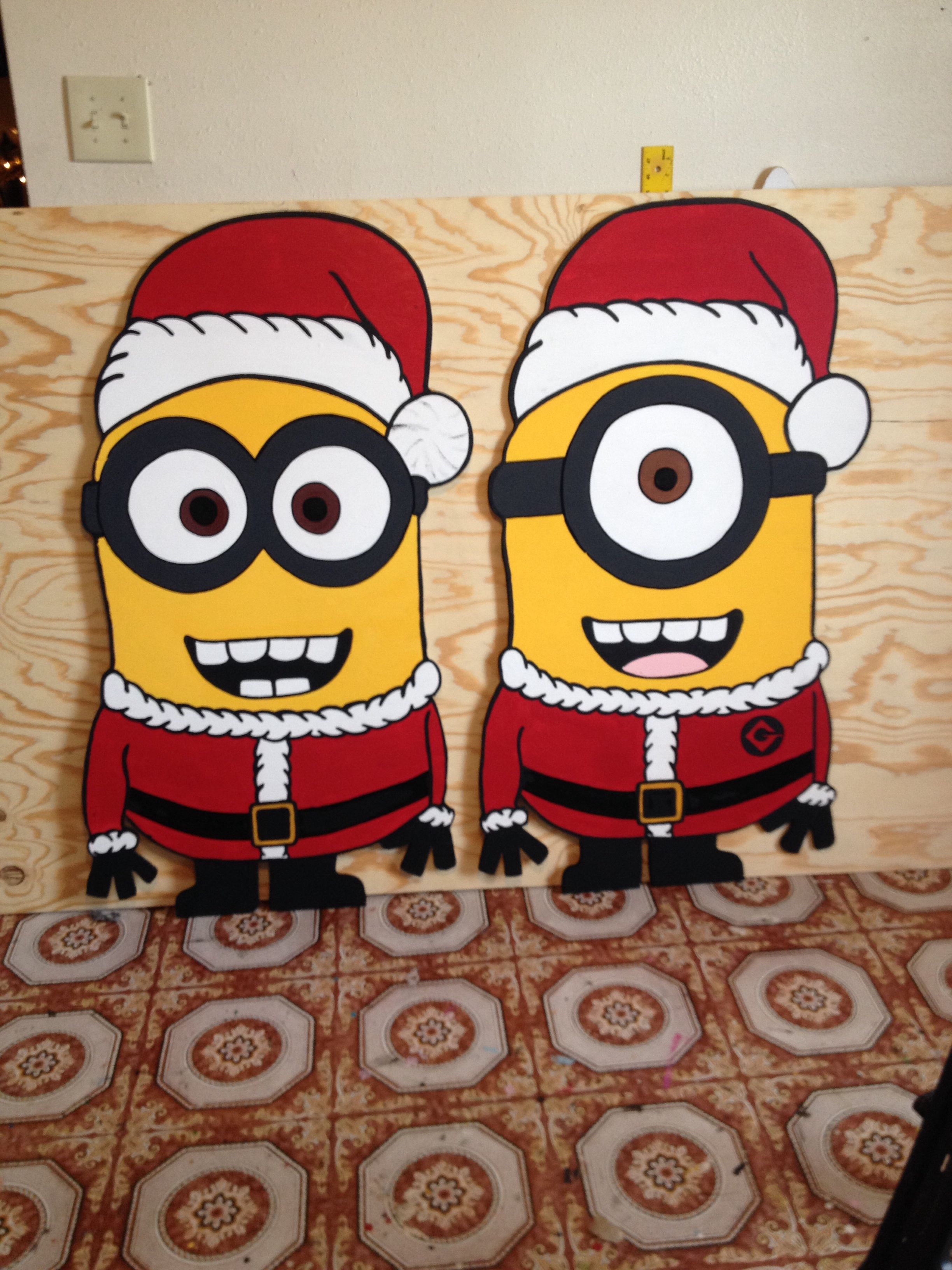 Diy christmas lawn decorations wood - Christmas Minions Done By Markeysha And Keith Ross Follow Me On Facebook For More Diy Christmas Yard Artchristmas Woodchristmas
