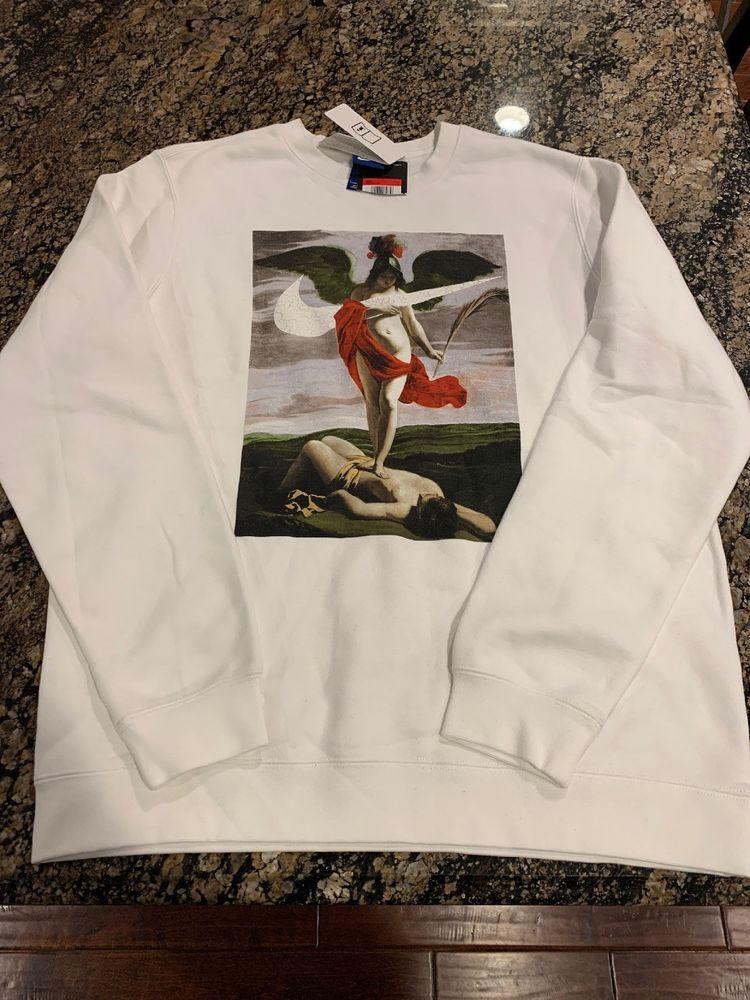 best sneakers 1fc40 60f54 NIKE ALLEGORY RENAISSANCE SWEATSHIRT FLEECE OFF WHITE AQ7138-100 MEN SIZE L   Nike  Sweatshirt