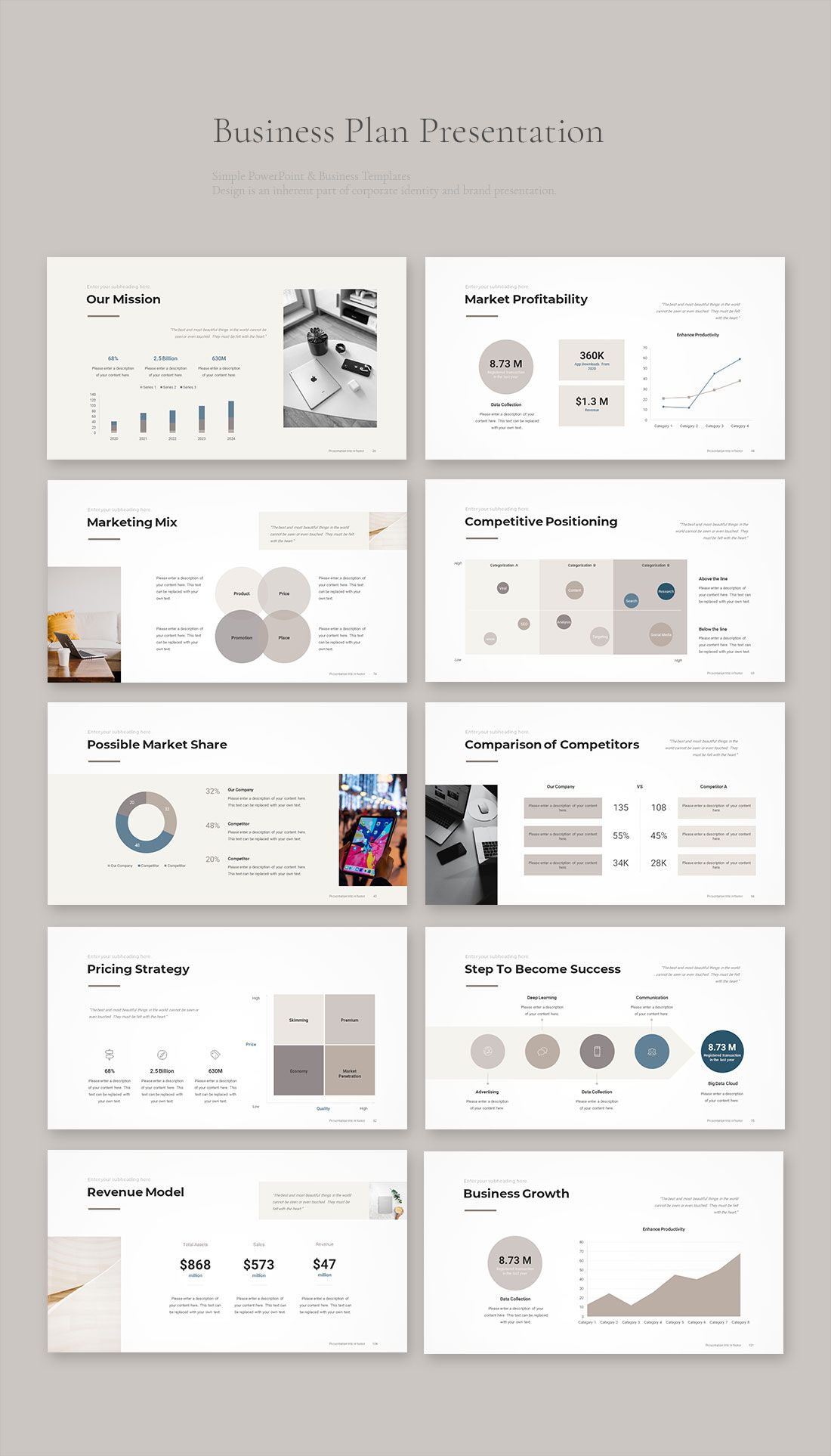 Business Plan PowerPoint Template 2020 Download