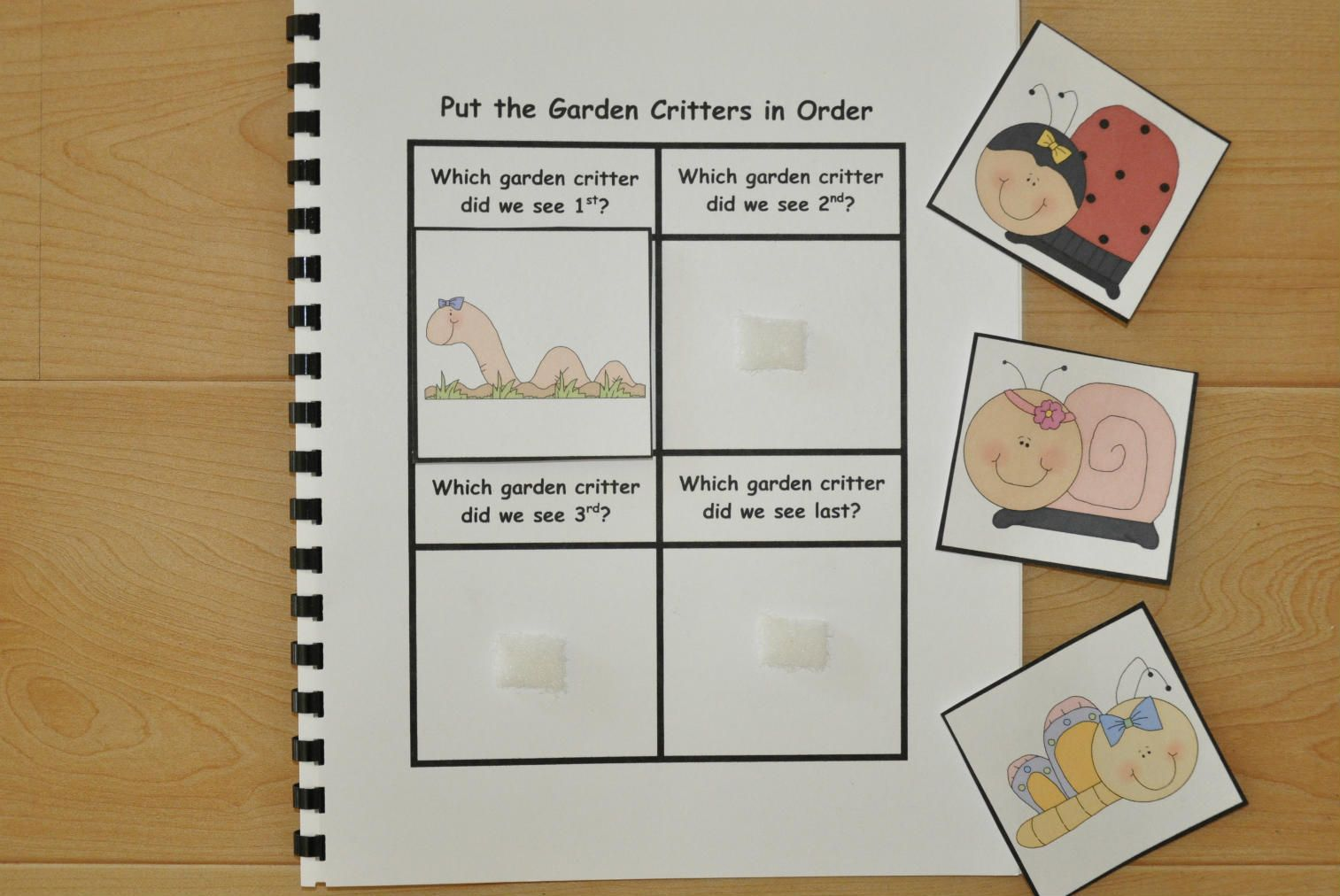Students order characters or events from the story