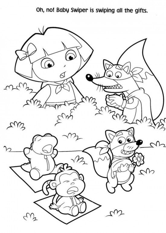 Free Printable Dora Christmas Coloring Pages Picture 22 550x771 - new dora christmas coloring pages free printable