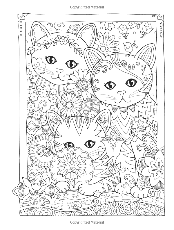 Amazon Com Creative Haven Creative Kittens Coloring Book Adult