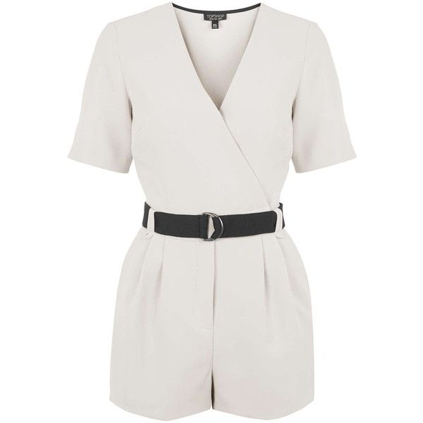0d0182c02016 TOPSHOP Judo Wrap Playsuit ( 78) ❤ liked on Polyvore featuring jumpsuits