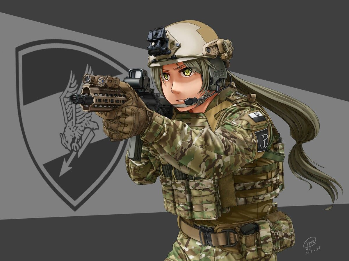 Army Anime Anime Military Military Girl Anime