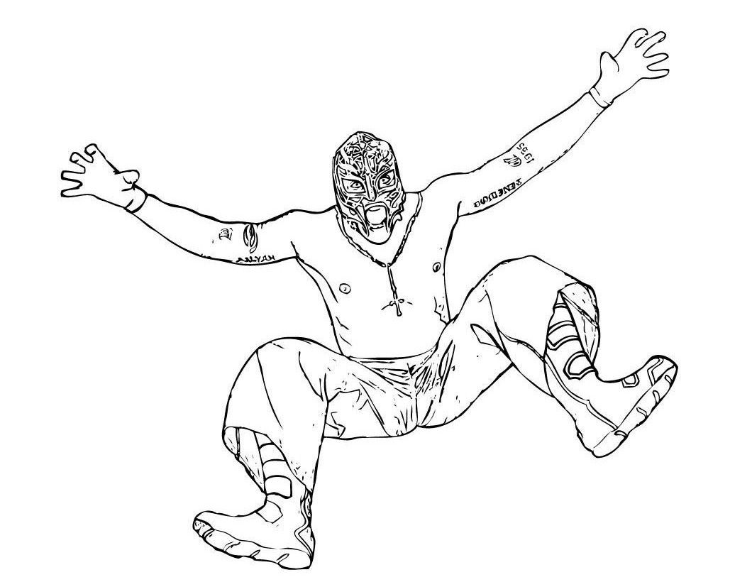 Printable Wwe Coloring Pages Kee