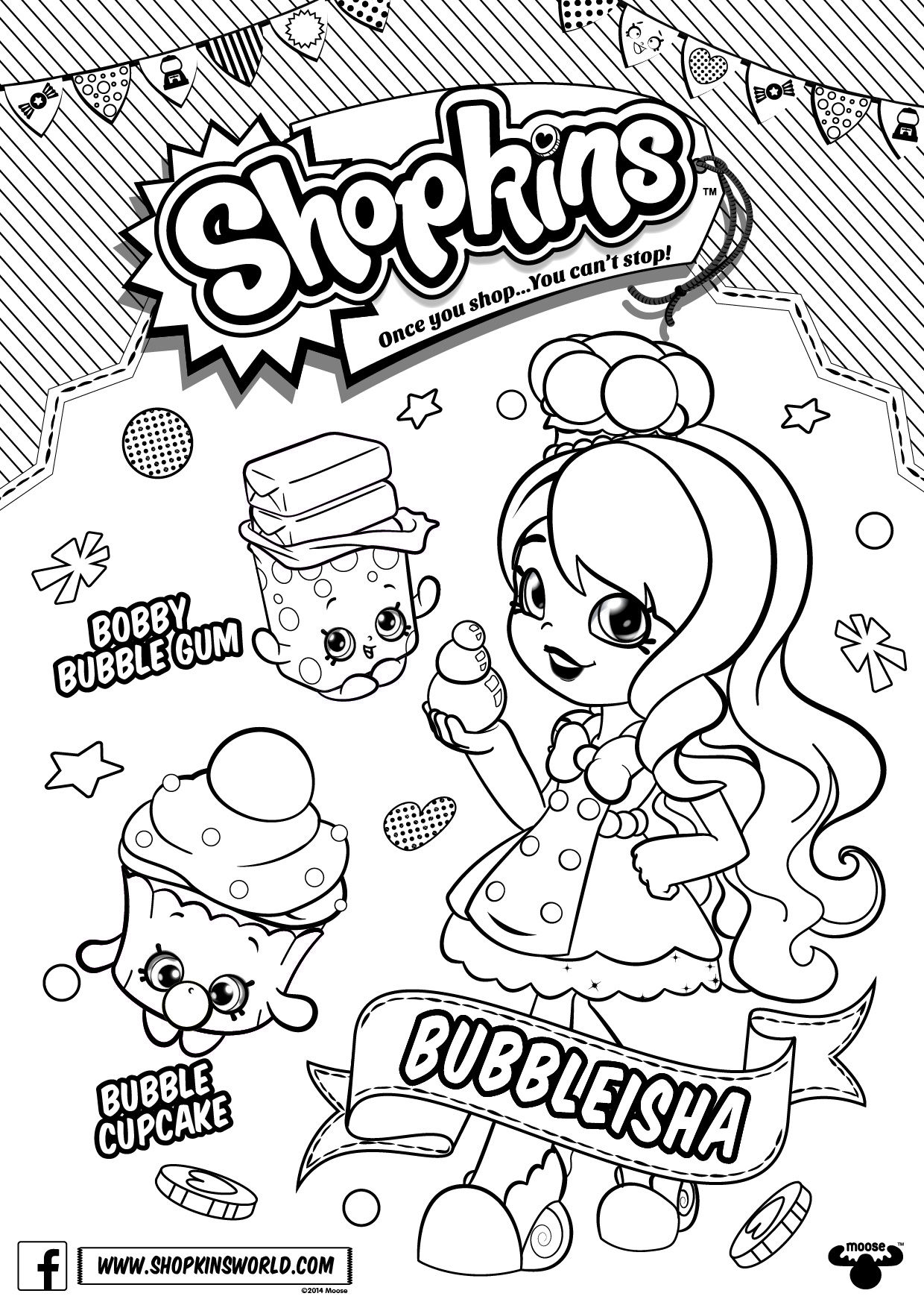 Shopkins Doll Chef Club Colour In Page Bubbleleisha