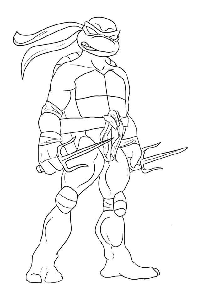 Easy Ninja Turtles Coloring Pages