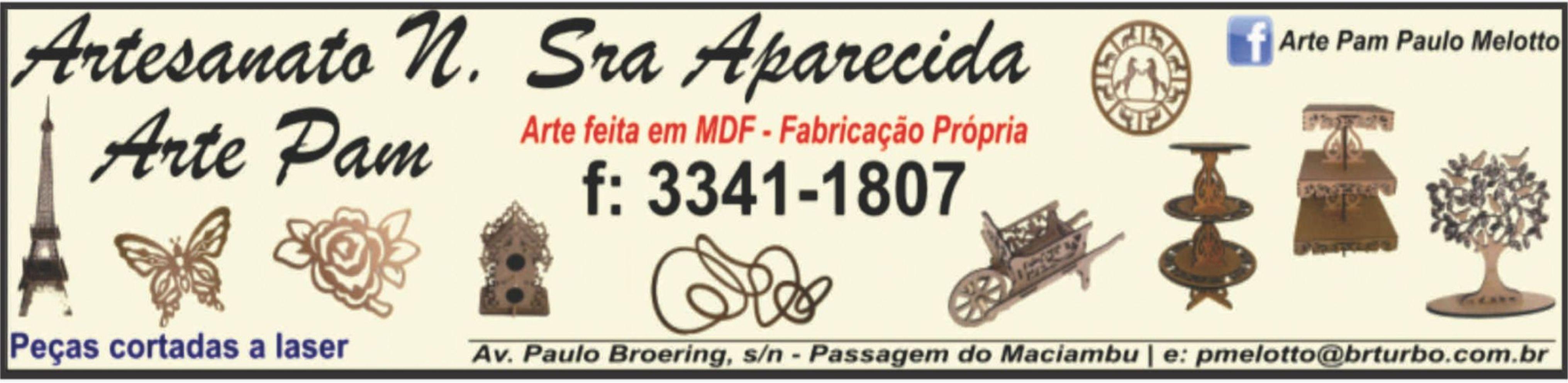 Artesanato Nª Sra. Aparecida - Arte Pam