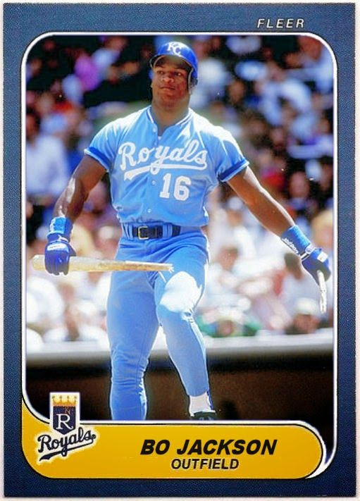 Cards That Never Were 1986 Fleer Bo Jackson Bo Jackson Kansas City Royals Baseball Youth Baseball Gloves