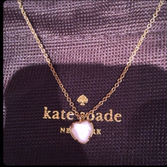 Kate Spade Heart Pendant Necklace 100% Authentic Kate Spade heart pendant necklace! Comes with dust bag. Never worn. kate spade Jewelry Necklaces