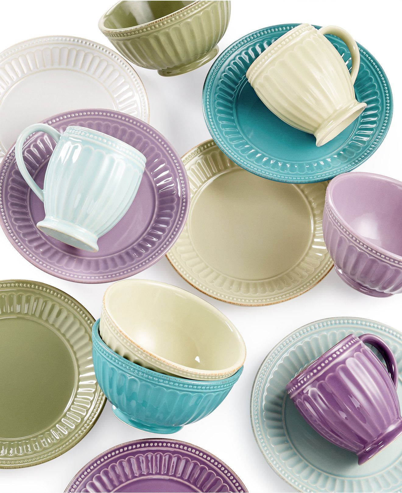 Lenox French Perle Everything Collection - Dinnerware - Dining \u0026 Entertaining - Macy\u0027s & Lenox French Perle Groove Collection | Lenox french perle ...
