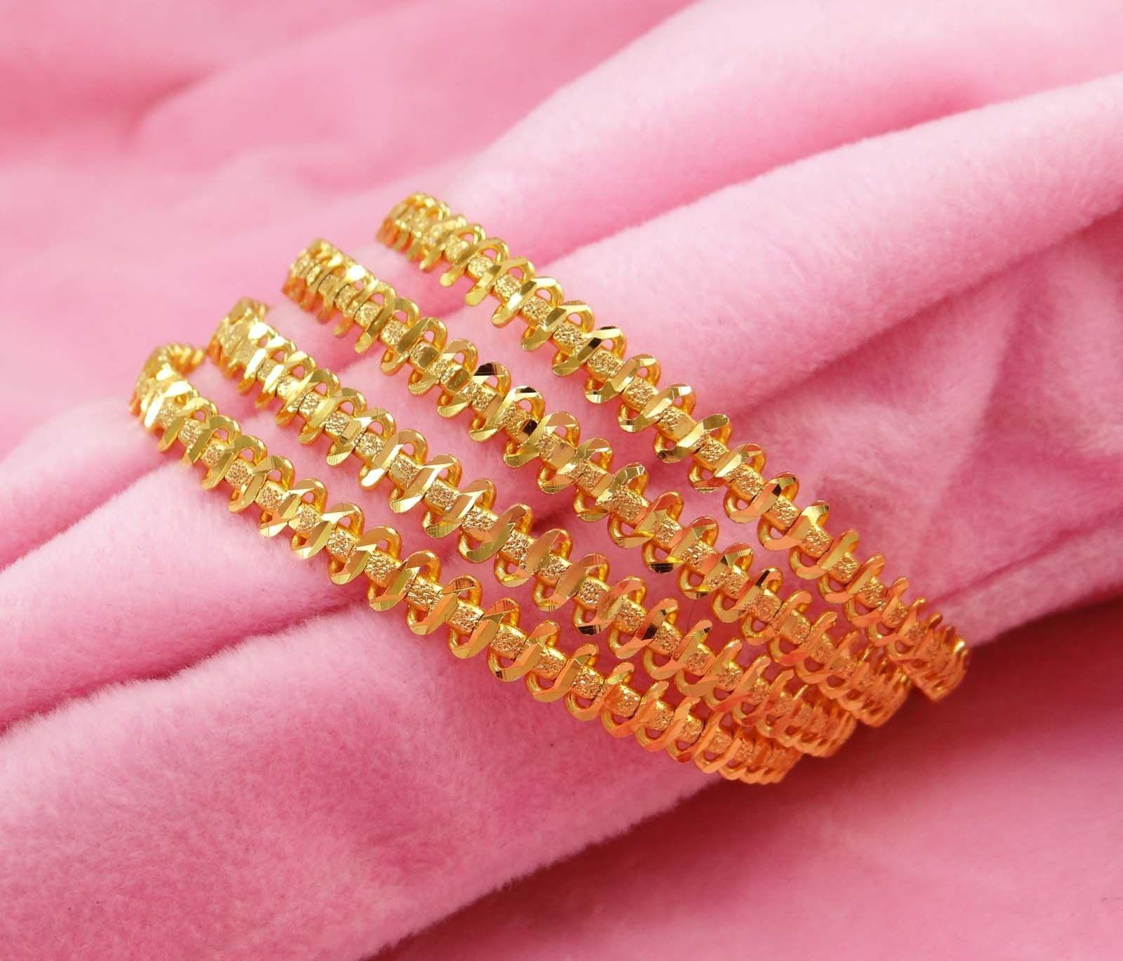 Designer 18k Goldplated Kada 4PC Bangles Indian Ethnic Traditional ...