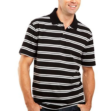 St john 39 s bay striped jersey polo shirt jcpenney for Jcpenney ladies polo shirts