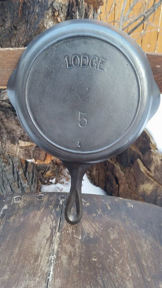 Labeled Lodge 1910 5 Cast Iron Dessert Skillet A True Functional Seasoned Piece Of Us History 8 Diameter 1 3 4 Depth