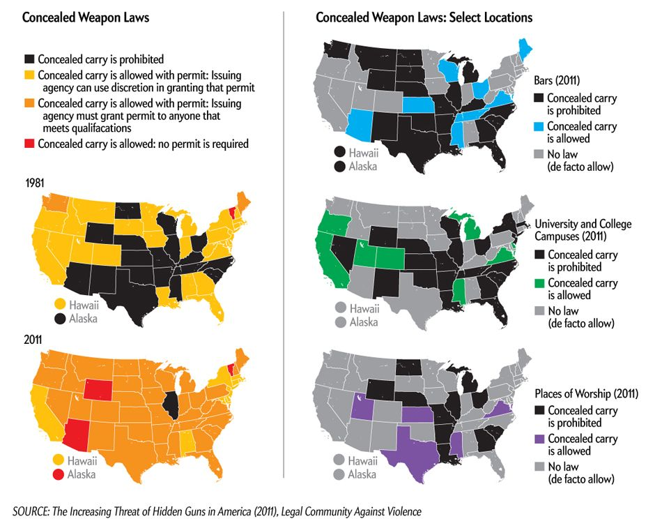 Guncontrol laws have changed rapidly in recent years; how