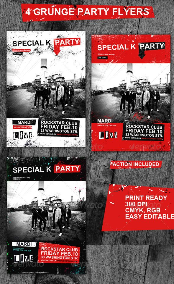Grunge Rock Flyers\/Posters #rock flyers #grunge rock #flyer buy - band flyer template