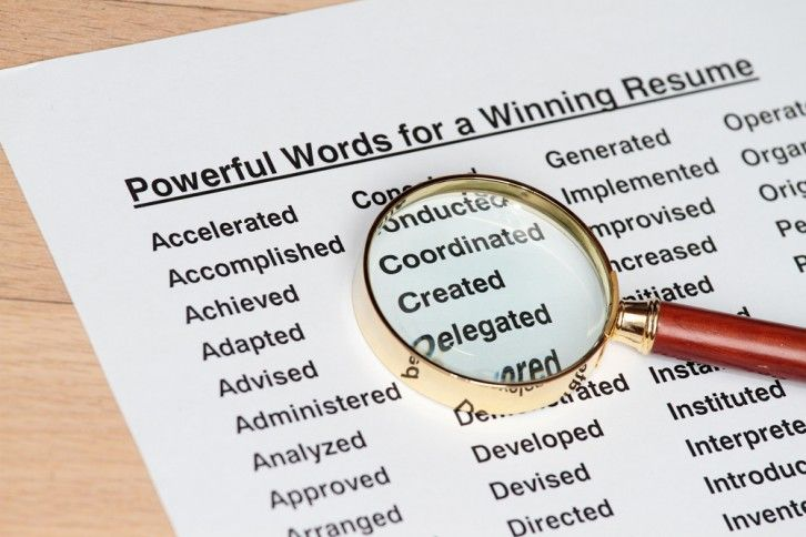 A list of good (and some not so hot IMO) words to give your resume