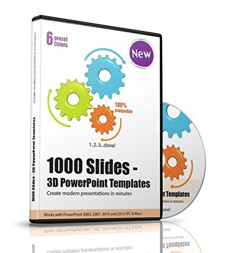 1000 Deluxe 3D Powerpoint Templates, Slides and Charts - 3d powerpoint template