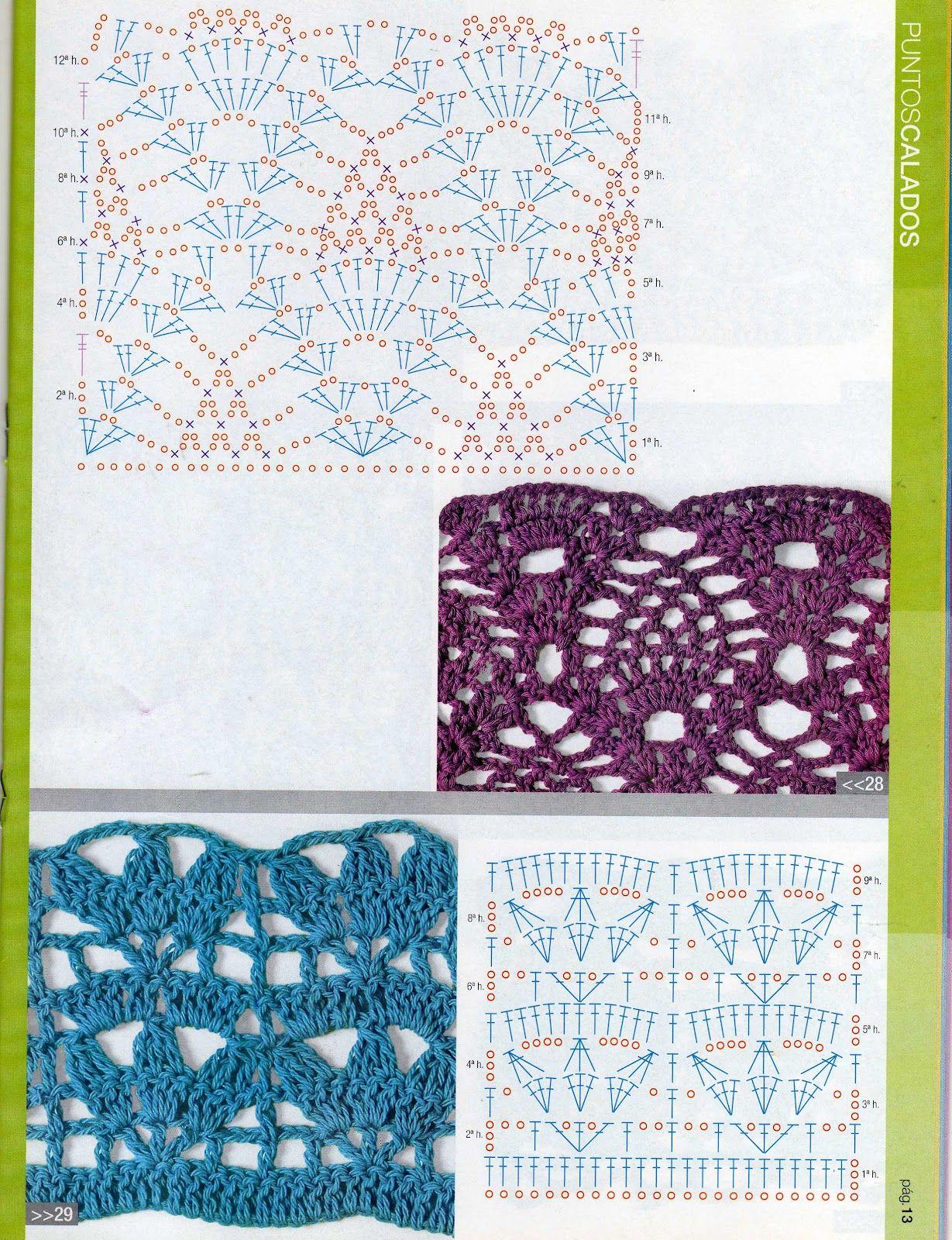 patrones asgaya: PUNTOS CALADOS CROCHET | patrones y puntadas ...