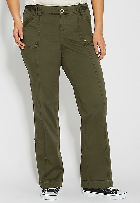 f16f513f2f7ee plus size convertible cargo pant in forest fern