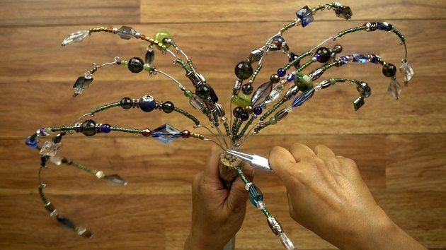 How to Make Your Own Glass Beaded Garden Sparklers | eHow.com