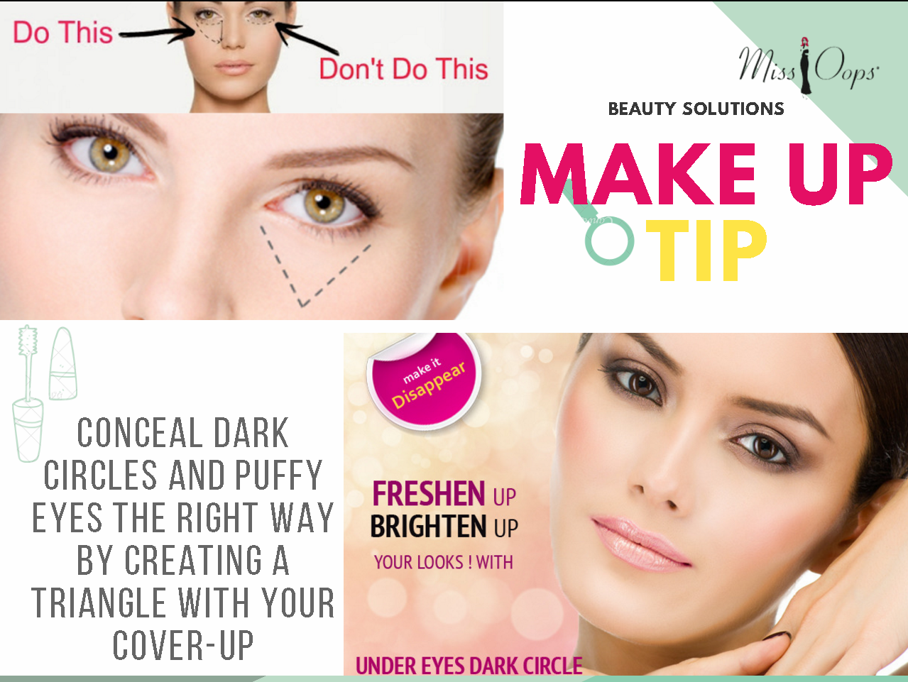 MakeupTip Conceal dark circles and puffy eyes the right