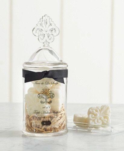Fleur De Lis Soap Jar (7-piece set)