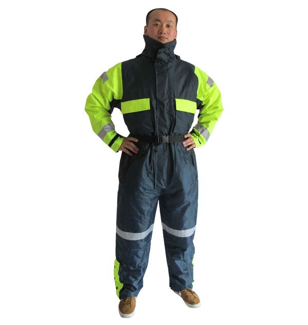 Offshore Overall 100% polyester oxford with PVC coating, fleece lining With flotation function