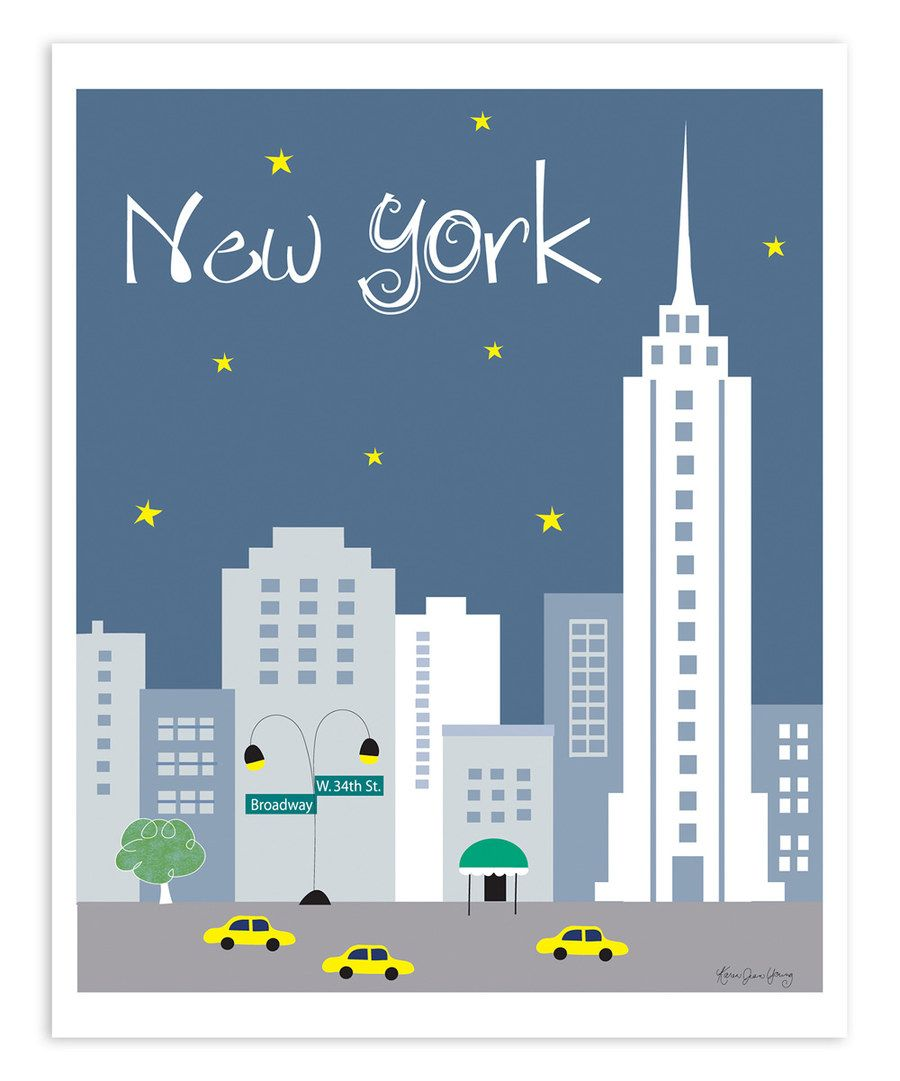 Look at this New York New York Skyline Print on #zulily today!