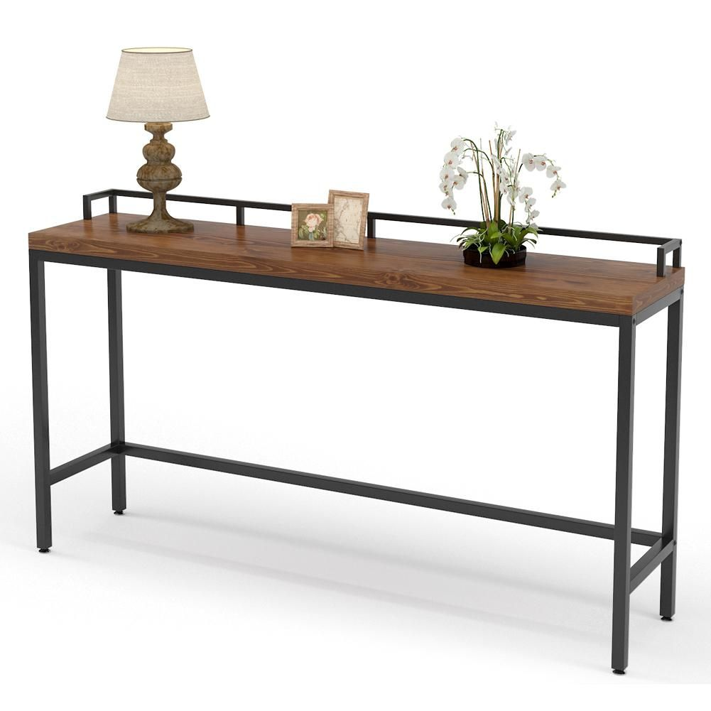 Tribesigns 70 9 Inch Extra Long Solid Wood Console Table Behind Sofa Couch In 2021 Console Table Behind Sofa Long Sofa Table Wood Console Table