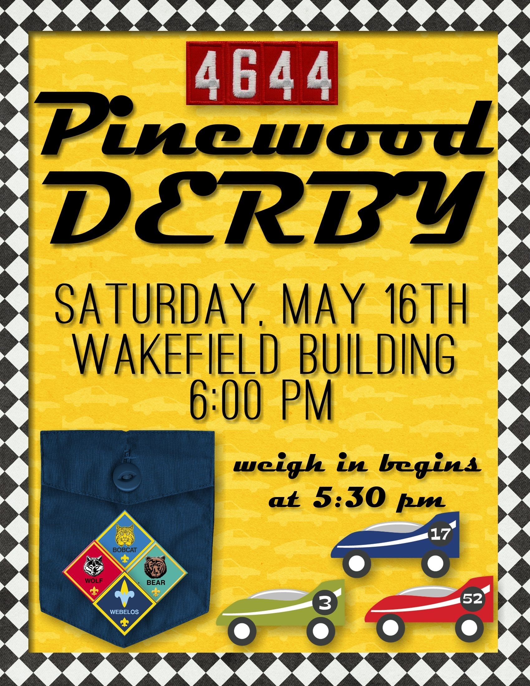 Cub Scout Pinewood Derby Flyer Primary Pinterest Pinewood