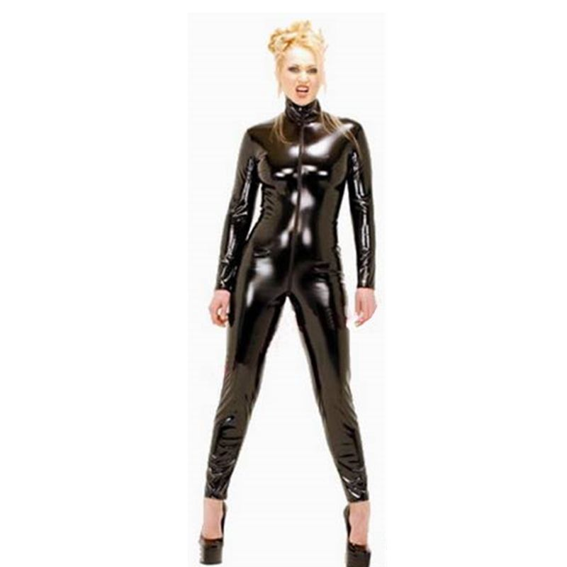 free shipping] buy best plus size women black sexy faux leather