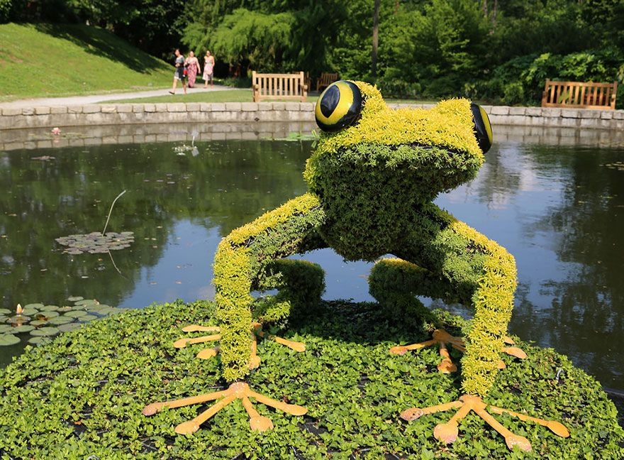 12 of the giant living sculptures at atlanta botanical gardens, Garten und Bauten