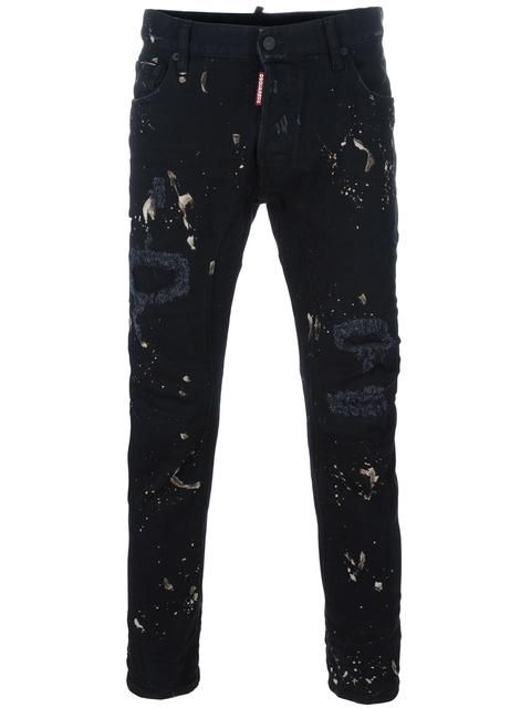bcf3b030b92 DSQUARED2 Paint Splash Skinny Jeans. #dsquared2 #cloth #jeans ...