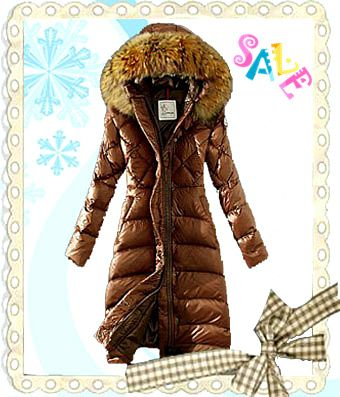 c8ce79225 Cheap Moncler Down Coat Women Hooded Windproof Coffee Outlet ...