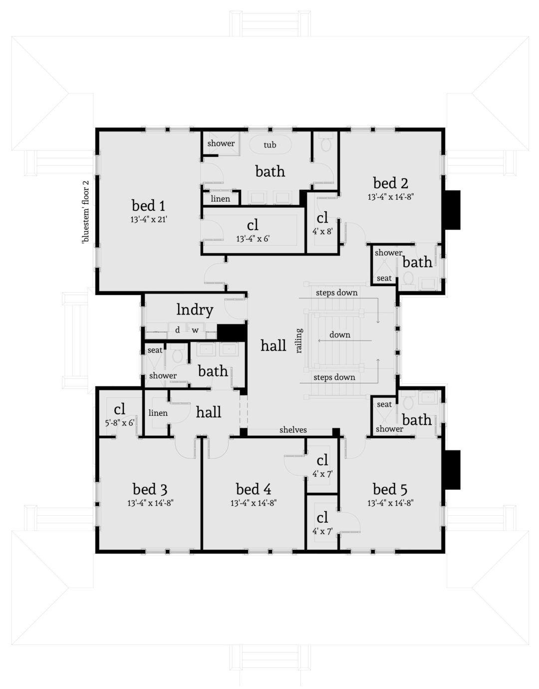 5 Bedroom 5 Bath Farmhouse Plan 4 Car Garage Tyree House Plans Country Style House Plans House Plans Farmhouse Style House Plans