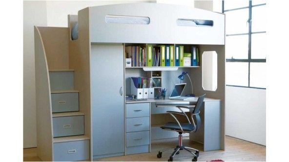Odyssey Space Saver Loft Bed Muebles Dormitorio Habitaciones Infantiles Dormitorios