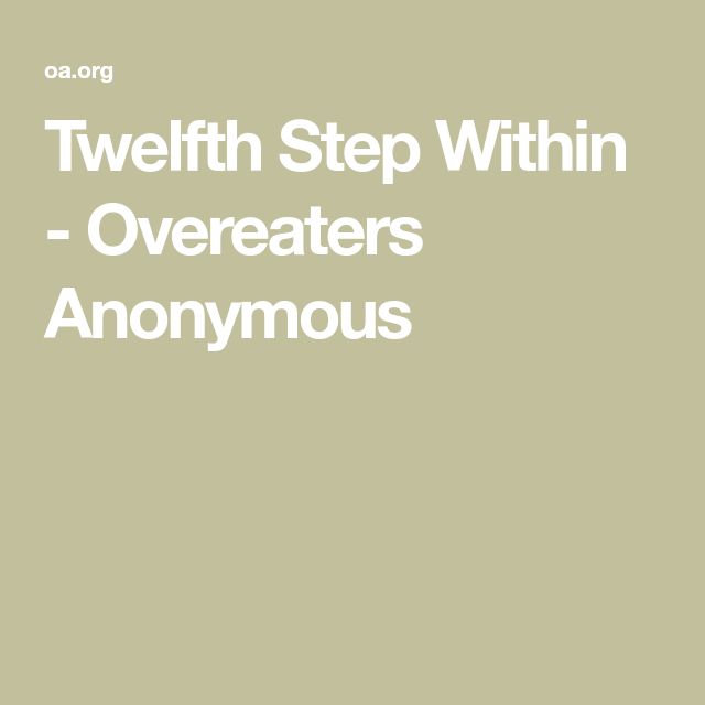 Pin On Overeaters Anonymous