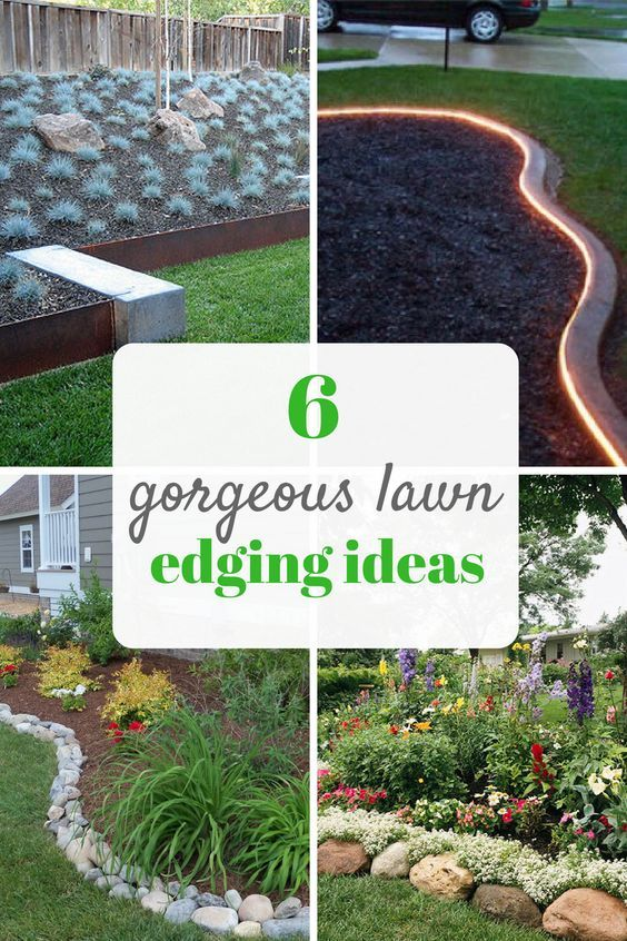6 Gorgeous Lawn Edging Ideas Jardinagem Land Scape E Hortas