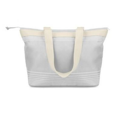 Branded Beach Bag Printed Summer Variety Of Colours Available White