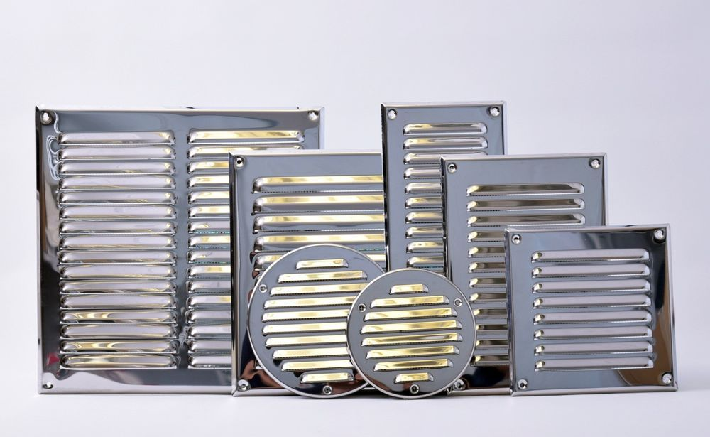 Details About Polished Chrome Air Vent Grille With Fly