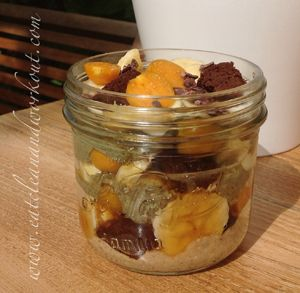 Coffee Flax, Fruit & Cake Mason Mix