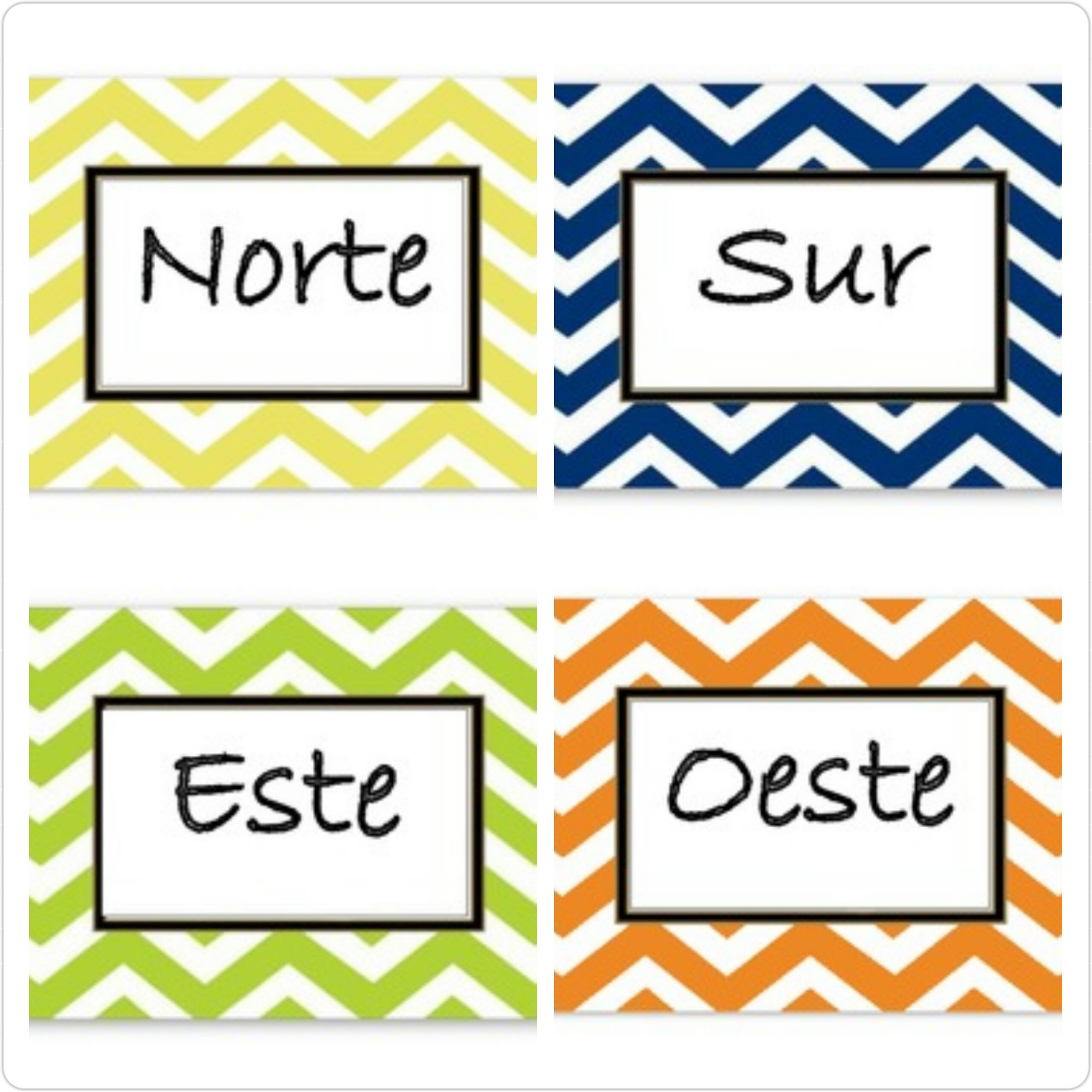 Spanish Cardinal Direction Signs Also Available In