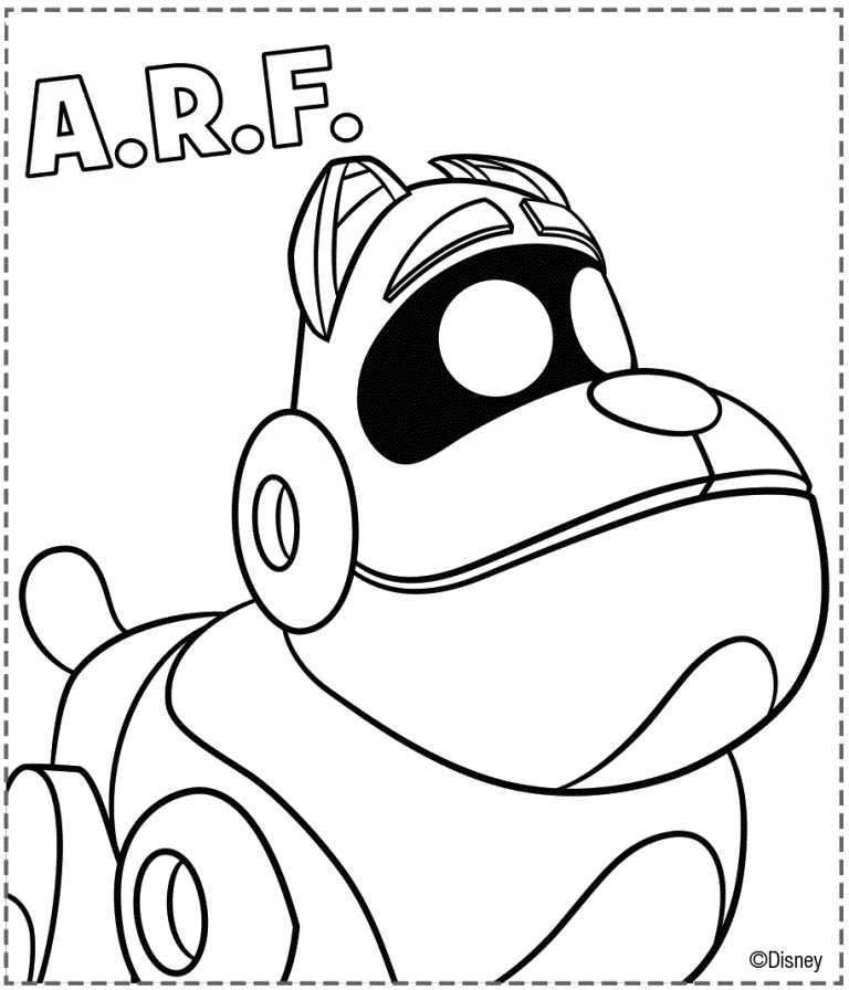 Free Printable Puppy Dog Pals Coloring Page Arf With Images