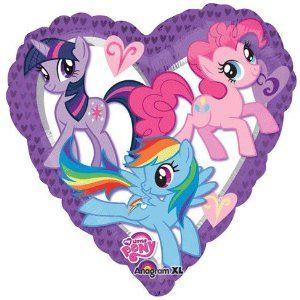 18 Inch My Little Pony Heart Foil Balloon