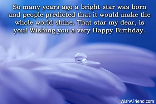 so many years ago a bright star was born and people