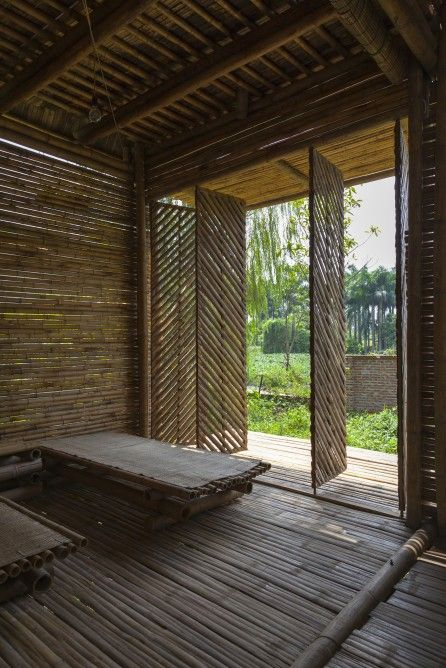 The Lattice Bamboo Design Allows Plenty Of Natural Light And