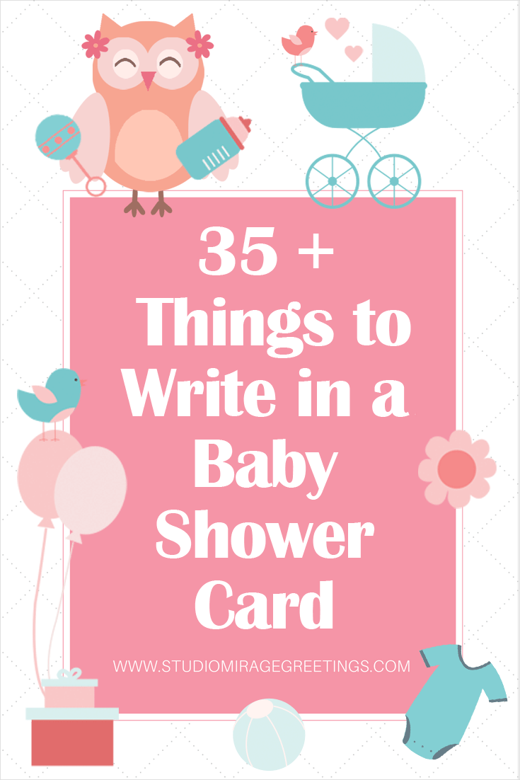 35 Things To Write In A Baby Shower Greeting Card Greeting Cards