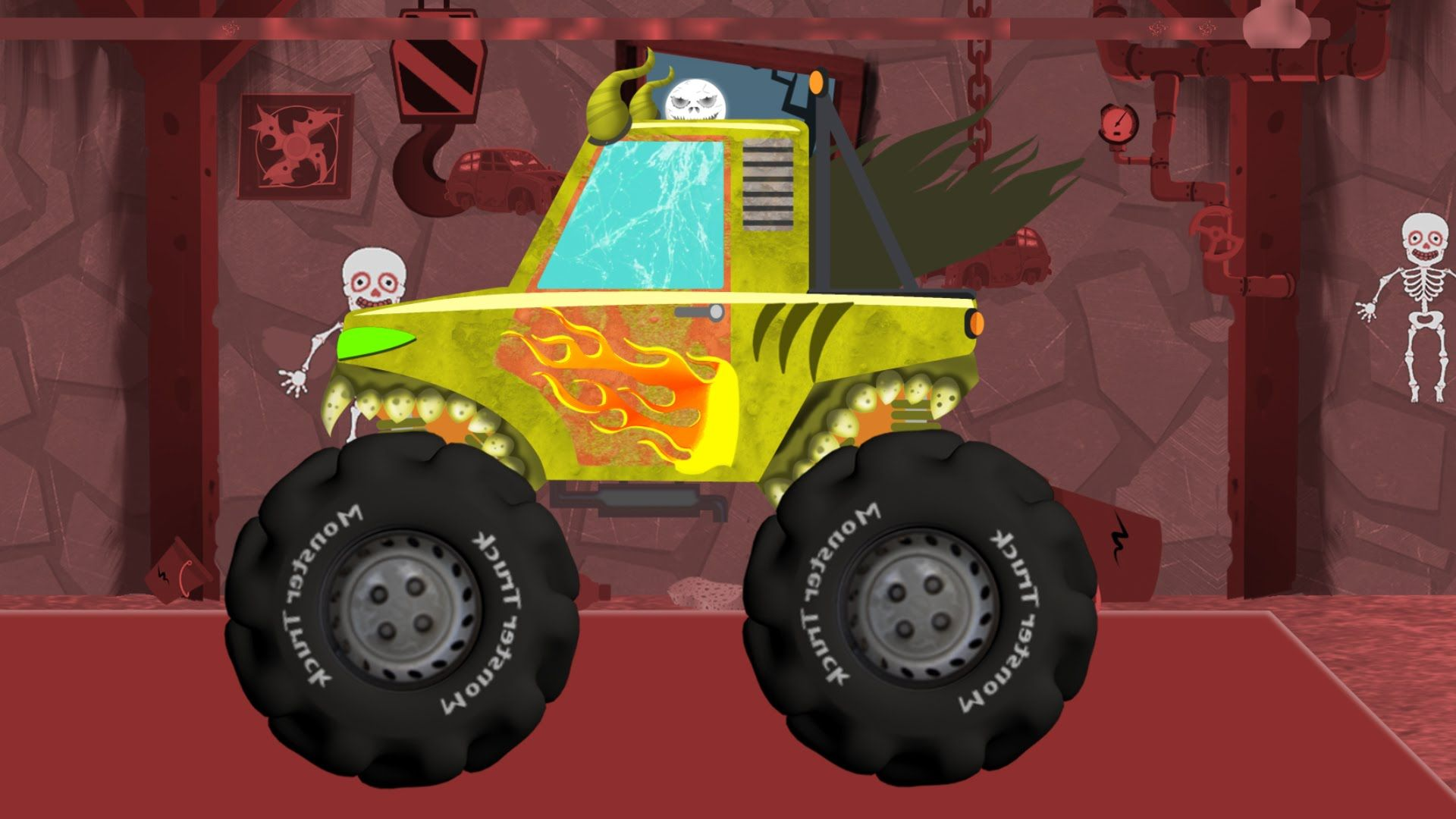 Scary Monster Truck Funny Scary Cars Videos For Kids Youtube Monster Trucks Scary Monsters Youtube Kids